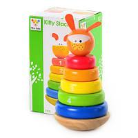 Деревянная игрушка Пирамидка MD 0539