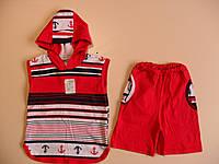 Футболка с капюшоном и шорты для мальчика 1,6 - 7лет