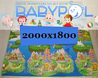 Коврик Babypol развивающий двухсторонний 1800x2000 Острова / Самолеты и дережабли