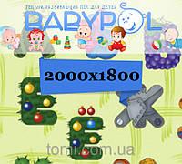 Коврик Babypol двухсторонний 1800x2000 Забавный алфавит/Самолеты и дереж
