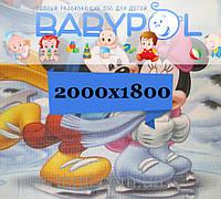 Развивающий коврик Babypol для детей 1800x2000 Любимые герои (Микки Маус/Винни-П