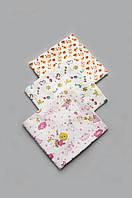 Комплект байковых пеленок для девочки 3 шт.