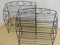 Этажерка для обуви с коваными элементами  -  010-670