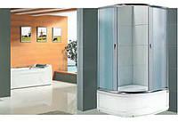 Душевая кабина полукруглая BADICO SAN 1021 Fabric 100х100х200 с поддоном и сифоном