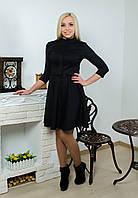 Женское платье в клетку серое, фото 1