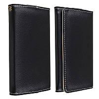 [ Универсальный ] Чехол-бумажник портмоне с отделениями для кредиток черный