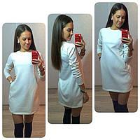 Короткое белое женское платье
