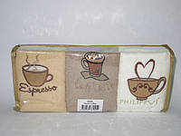 Набор кухонных полотенец Philippus Кофе в мягкой упаковке
