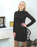 Платье с узором коричневое, фото 1