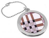 Оригинальное карманное зеркальце на цепочке  Jardin D'ete 98-0772, серебристый