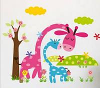 Наклейка виниловая Весёлый жирафик 3D декор