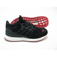 Кроссовки мужские адидас Adidas Ultra boots Black черные с красным замша
