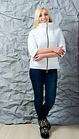 Куртка женская рукав 3/4 белая, фото 1