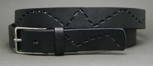 Универсальный женский ремень из натуральной кожи Цепь 3 см Svetlana Zubko F30103 черный