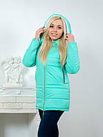 Куртка женская с капюшоном мята, фото 1