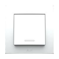 Выключатель одинарный внутренний белый Neo El-Bi