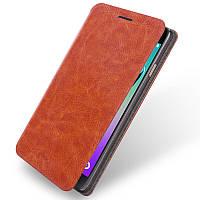 Кожаный чехол книжка Mofi для Samsung Galaxy A3 A310f 2016 коричневый