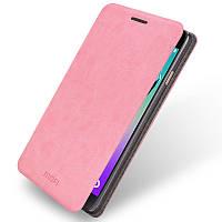 Кожаный чехол книжка Mofi для Samsung Galaxy A3 A310f 2016 розовый
