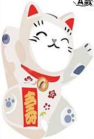 """Наклейка на стену, виниловые наклейки, украшения стены наклейки """"китайский кот :)""""  лист 45*30см"""