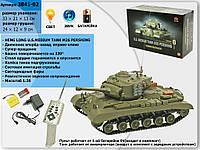Радиоуправляемый танк M26 Pershing (на аккум., свет, звук), 1:30 3841-02