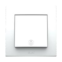 Выключатель одинарный с подсветкой внутренний белый Neo El-Bi