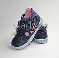 Демисезонные ботинки для девочки синий Apawwa 26р.