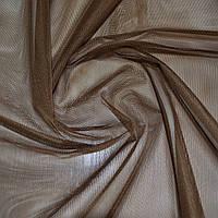 Тюль фатин темно коричневый