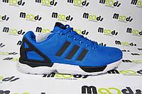 Мужские повседневные кроссовки Adidas ZX Flux, текстиль, голубые, Р.  45