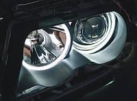 """Альтернативная оптика для BMW E46 '01- (с линзой) вставки """"ангельские глазки"""" в штатные фары BM007-2-4 (тюнинг оптика, цена за комплект)"""