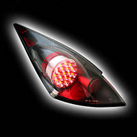 Альтернативная оптика для NISSAN 350Z `03-, T/L, фонари задние, светодиодные, черный с хромированной накладкой NO (тюнинг оптика, цена за комплект)