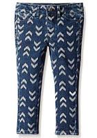 Модные джинсы для девочки с принтом Лаки Бренд