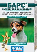 Барс капли против блох и клещей для собак весом от 2 до 10 кг (1 пипетка)
