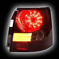 Альтернативная оптика для LAND ROVER, RANGE ROVER SPORT '06- фонари задние, светодиодные, красные, тонированные, светодиодный поворотник (тюнинг