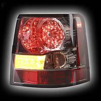 Альтернативная оптика для LAND ROVER, RANGE ROVER SPORT '06- фонари задние, светодиодные, тонированный хром, светодиодный поворотник (тюнинг оптика,