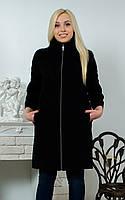 Пальто женское рукав 3/4 черное, фото 1