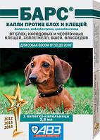 Барс капли против блох и клещей для собак весом от 10 до 20 кг (1 пипетка)
