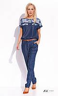 Женские летние брюки синего цвета. Модель Ruby Zaps, коллекция весна-лето 2016.