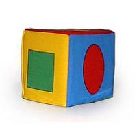 Кубик-погремушка. Геометрические фигуры ТМ Розумна іграшка