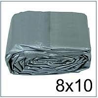 Тент 8*10 м., готовые размеры в ассортименте, плотный 120 г/м2 серебряный с УФ-защитой
