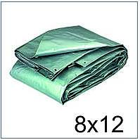 Тент 8*12 м., готовые размеры в ассортименте, плотный 120 г/м2 серебряный с УФ-защитой