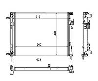 Радиатор охлаждения RENAULT TRAFIC 1.9D