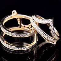 Золотое женское кольцо на две фаланги