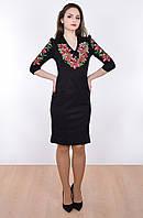 Классическая маленькое черное платье с вышивкой