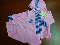 """Велюровый костюм """"Dudus"""" для девочки 68р.  цвет розовый."""