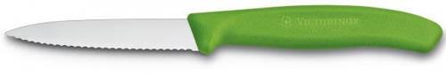 Кухонный уникальный нож для нарезки фруктов и овощей Victorinox SwissClassic 67636.L114 зеленый