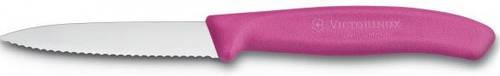Кухонный удобный нож для нарезки фруктов и овощей Victorinox SwissClassic 67636.L115 розовый