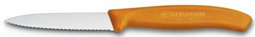 Кухонный отличный нож для нарезки фруктов и овощей Victorinox SwissClassic 67636.L119 оранжевый