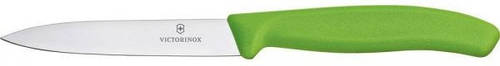 Яркий кухонный нож для нарезки фруктов и овощей Victorinox SwissClassic 67706.L114 зеленый