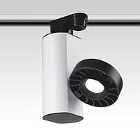 Светодиодный трековый  светильник. Блок питания  в корпусе, мощность 18W, светодиод - CREE под однофазный трек