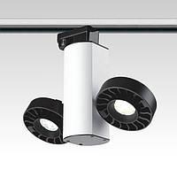 Светодиодный трековый  светильник. Блок питания  в корпусе,  модуль2*18W, светодиод - CREE под однофазный трек
